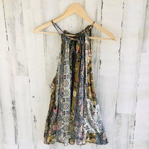Isabel Marant 100% Silk Patchwork Printed Tank